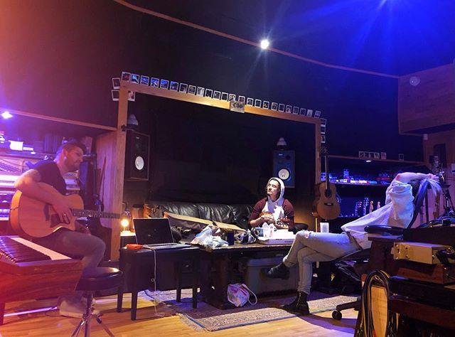 Fam jam day in the studio 💟