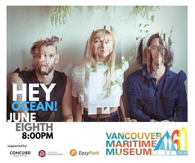We couldn't be more stoked to play the 60th anniversary of the Vancouver Maritime Museum on June 8th. Get there early enough to see the young and talented @ludicofficial rip it up.  Poster image: @drewstuff . . .. . .. . . #yvr #vancouvermaritimemuseum