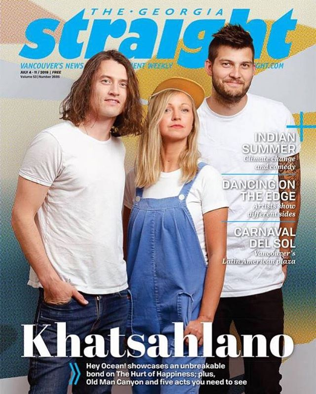 Look Ma! We did it! We're on the cover of the Georgia Straight! We are SO excited to play Khatsahlano Festival on Saturday with so many amazing Vancouver bands. We hit the TD Burrard Stage at 8 p.m. 🙌🏼💛see you there! 📷: our favorite @working_title