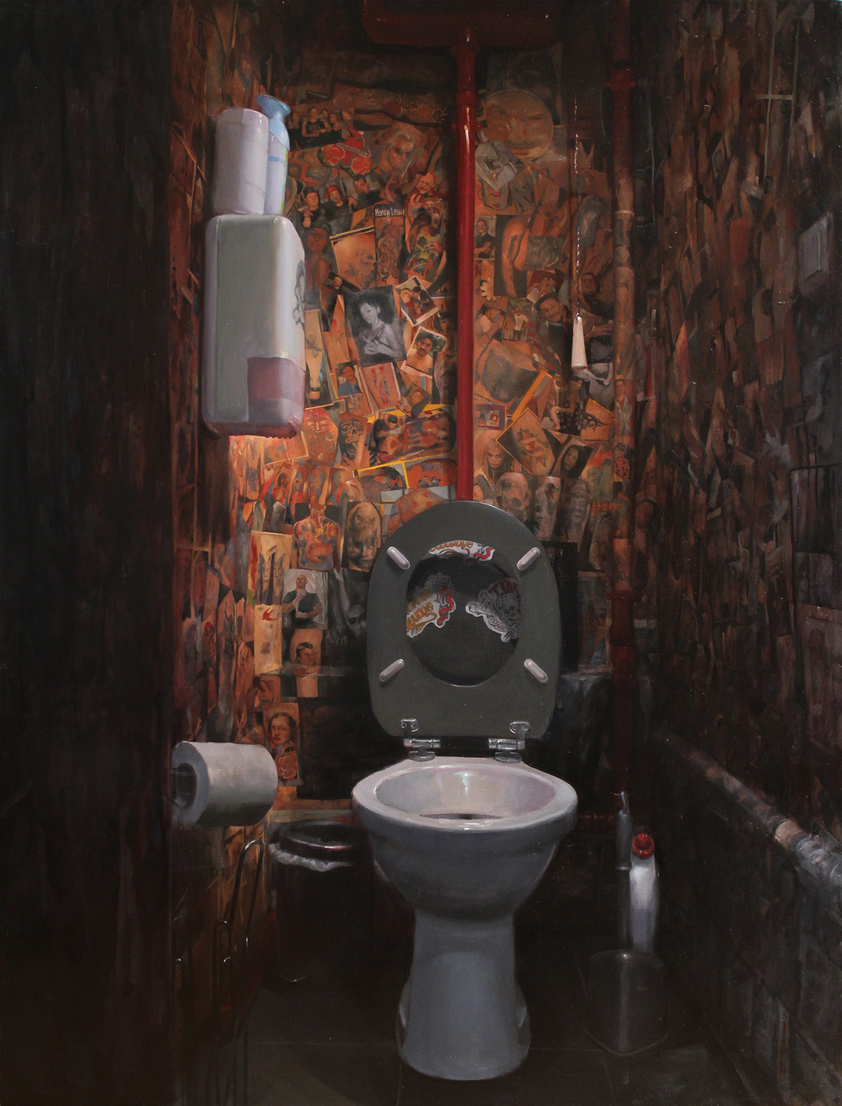 "'Tin-tin's Toilette, Paris, France', oil on panel, 48"" x 36"", 2016"