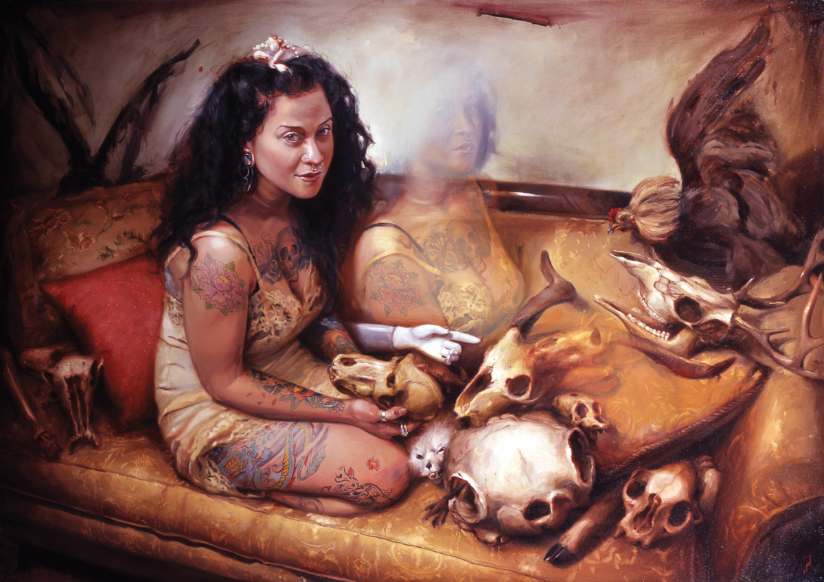 "'Portrait of the Artist, Chantal Menard', oil on canvas, 42"" x 60"", 2007, Private Collection"