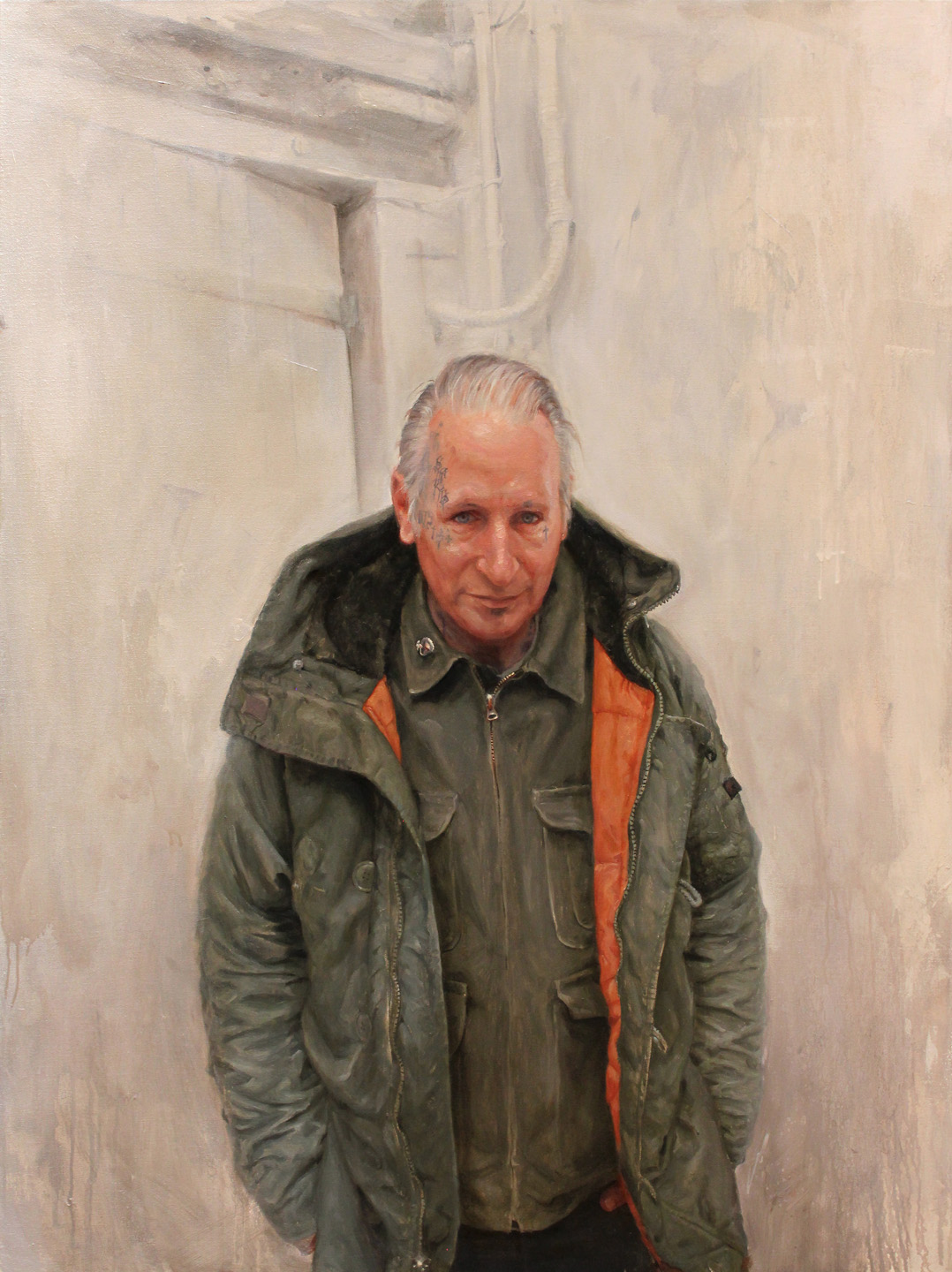 "'Portrait of the Artist, Freddy Corbin', oil on canvas, 48"" x 36"", 2016, Collection of Tin-tin"