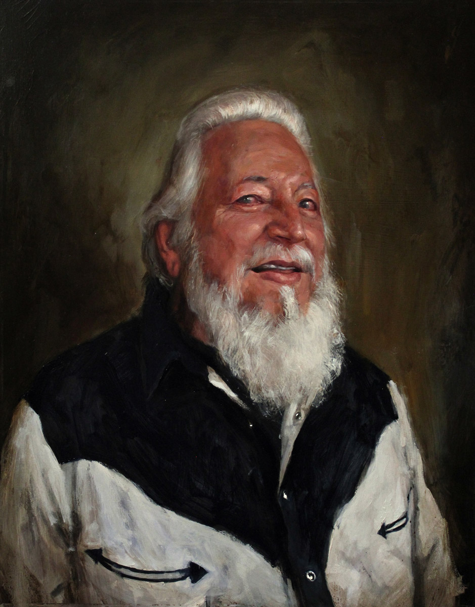 "'Portrait of the Artist, Goodtime Charlie Cartwright', oil on panel, 20"" x 16"", 2013"