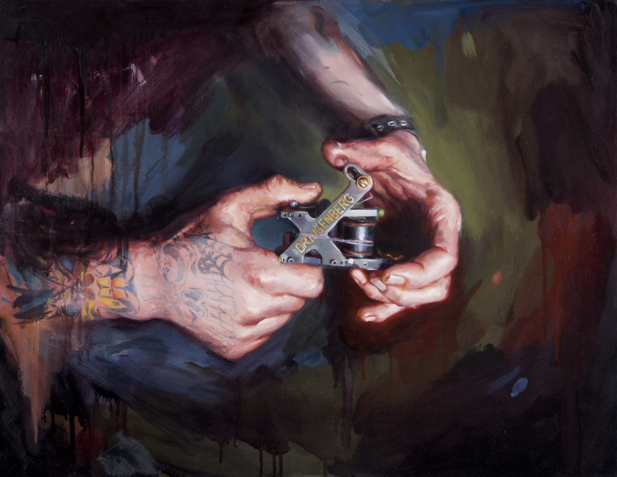 "'Dan Dringenberg's X Machine', oil on canvas, 20"" x 26"", 2008"
