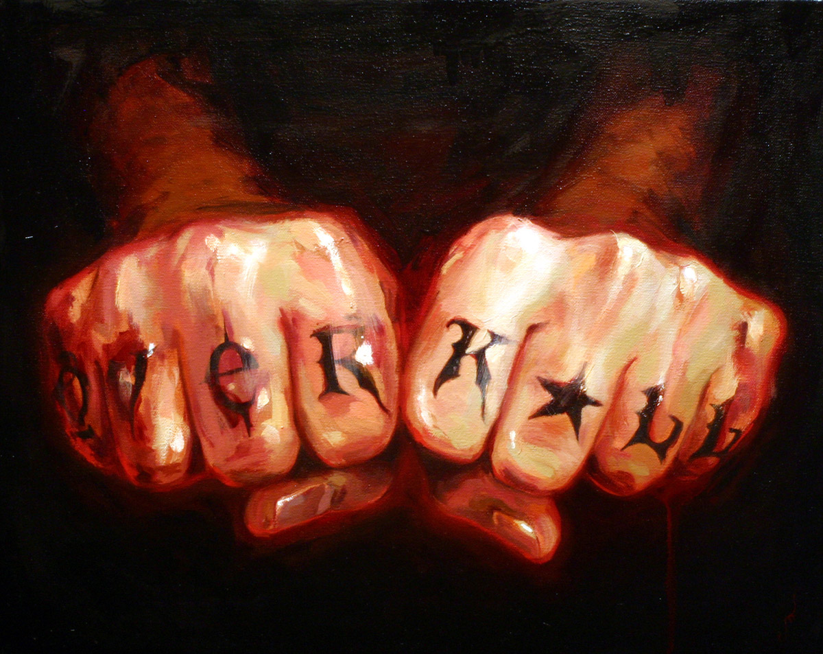 "'Michael Hussar's Hands', oil on canvas, 16"" x 20"", 2007, Collection of Holger Dahlen"