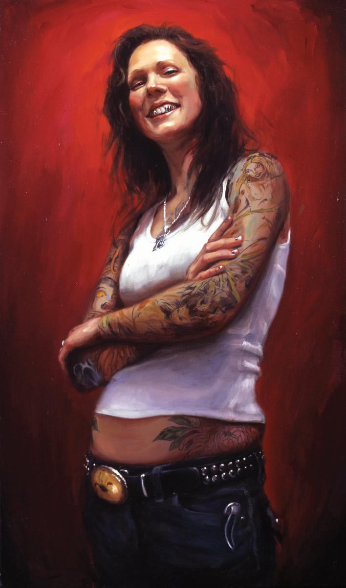 "'Portrait of the Artist, Amandalynn', oil on canvas, 44"" x 26"", 2007, Collection of Bob McLauchlan"