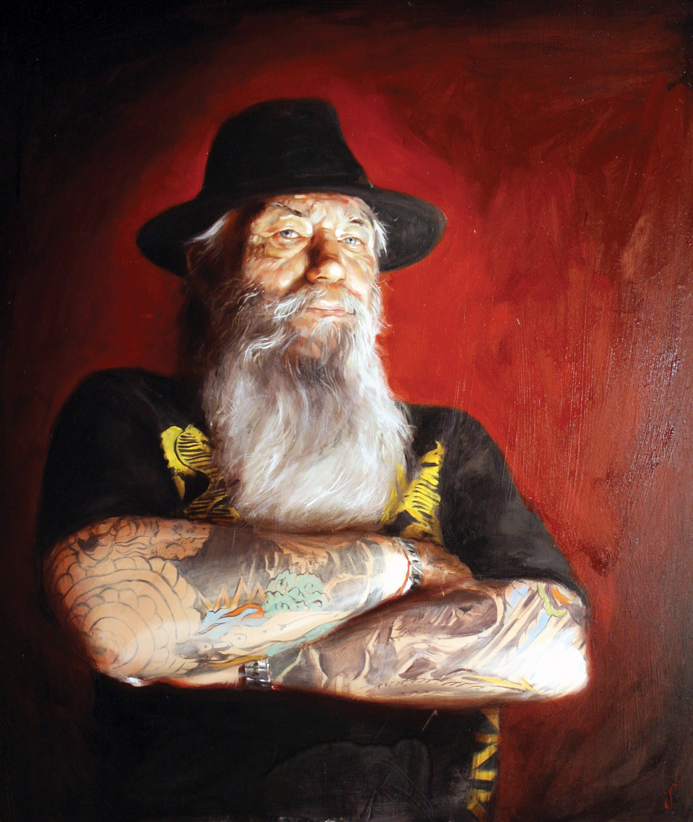 "'Portrait of the Artist, Rick Walters', oil on panel, 32"" x 24"", 2007, Collection of Rick Walters"