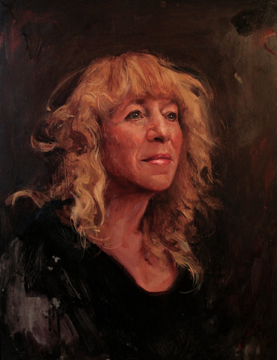 "'Portrait of Carmella Antonia Compagni (Mom)', oil on panel, 16"" x 12"", 2013, Collection of Carmella Compagni"