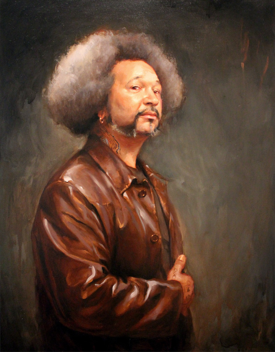 "'Portrait of the Artist, Damon Conklin (after Velazquez)', oil on canvas, 36"" x 28"", 2010, Collection of John Brusger"