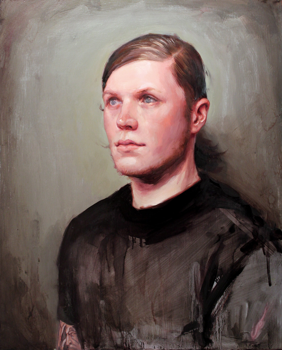 "'Portrait of the Artist, James Spencer Briggs, Head Study', oil on canvas, 20"" x 16"", 2010, Personal Collection"