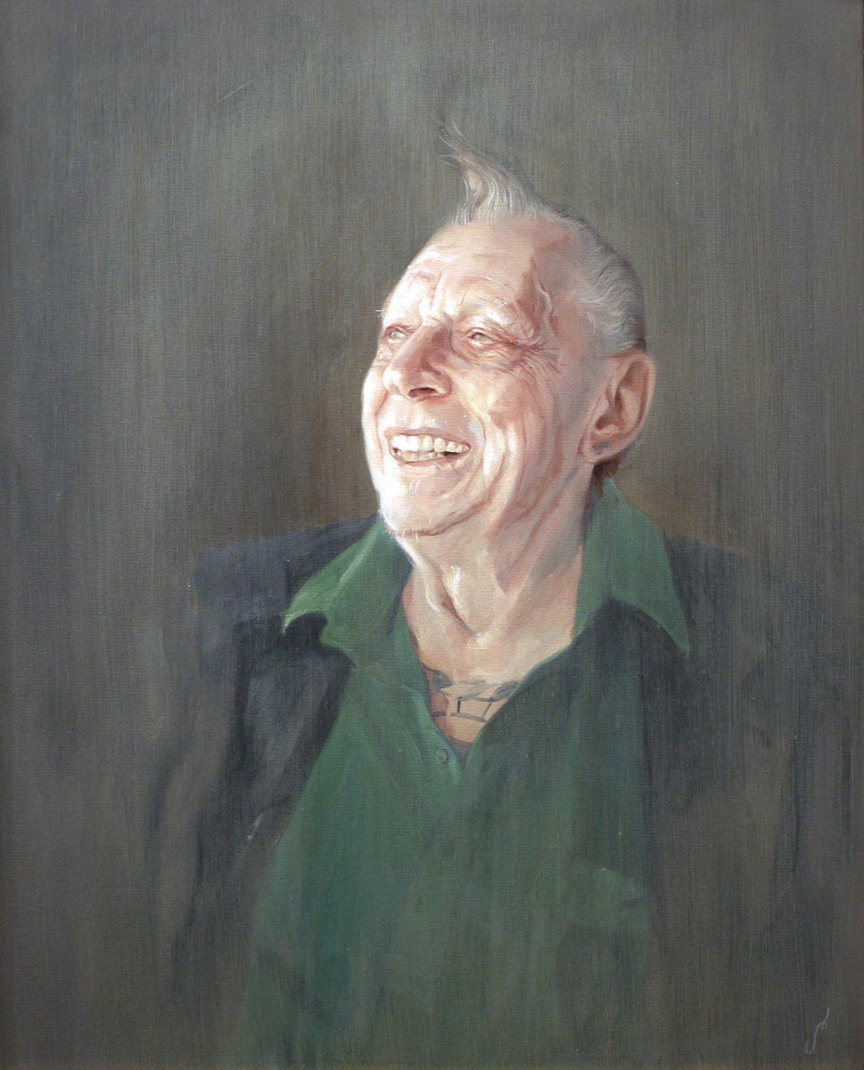 "'Portrait of the Artist, Crazy Philadelphia Eddie Funk', oil on canvas, 30"" x 24"", 2009, Private Collection"