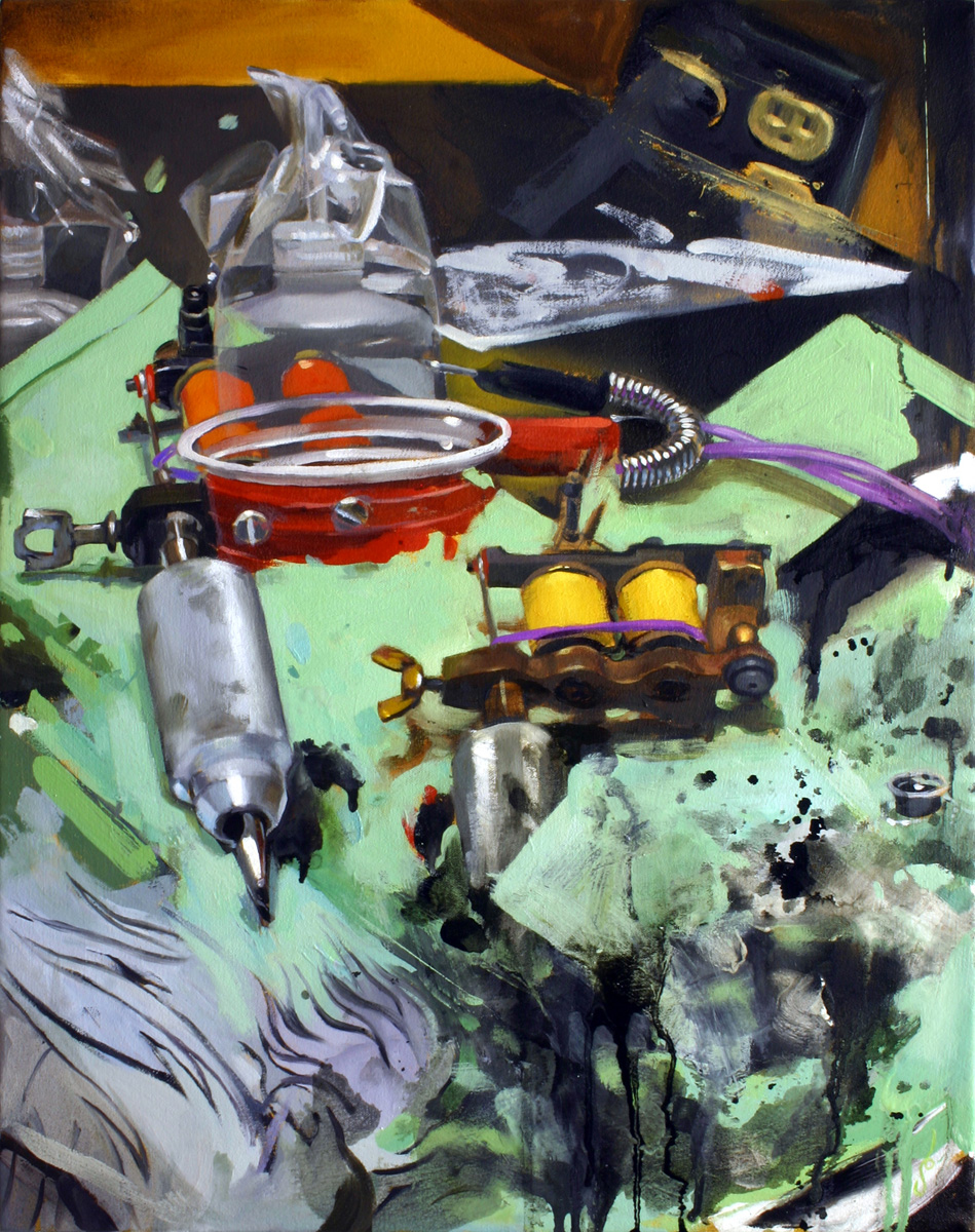 "'Henry's Spot', oil on canvas, 20"" x 16"", 2005, Collection of Brett Bryan"