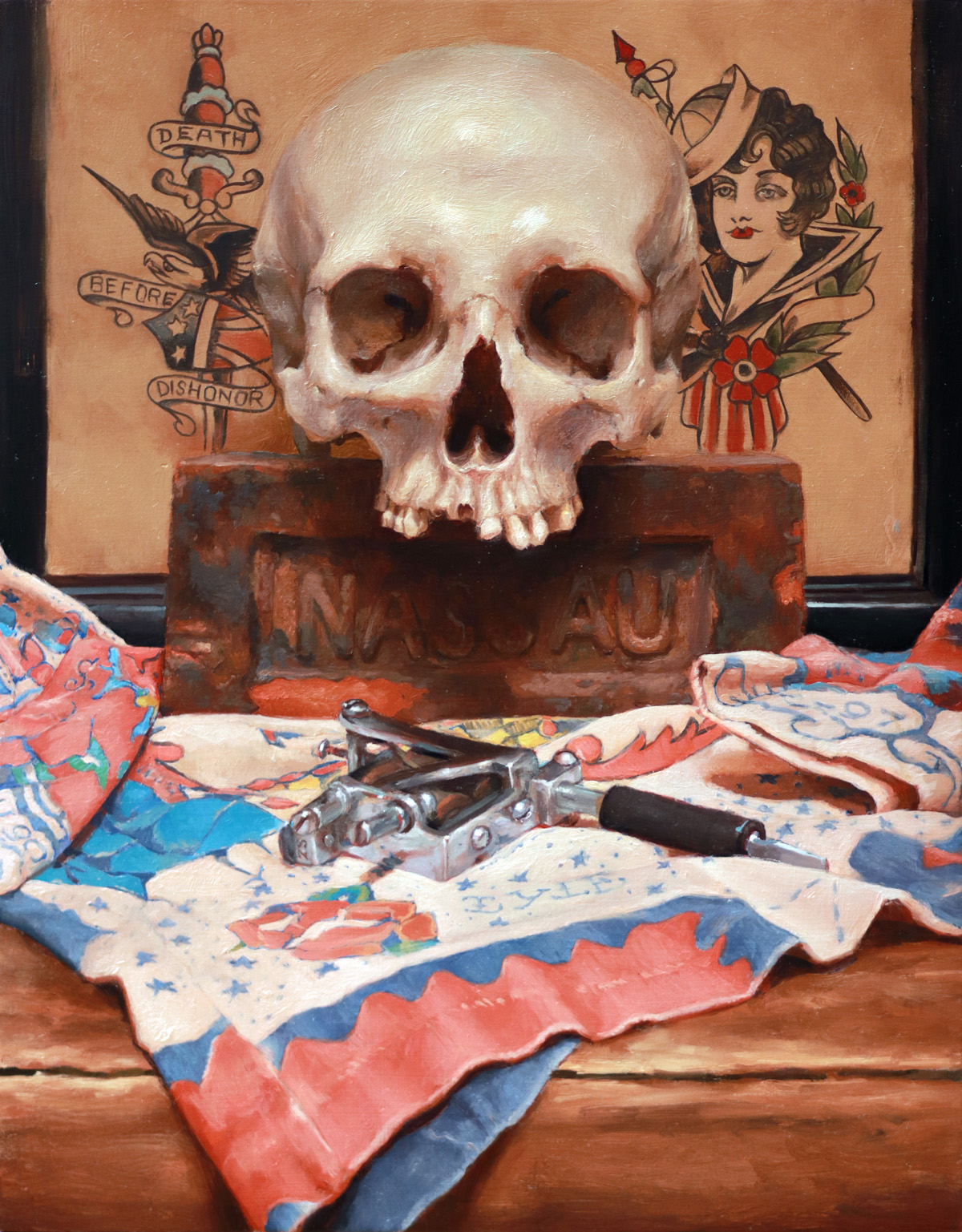 "'Vanitas III (Ode to Lyle)', oil on panel, 14"" x 11"", 2019"
