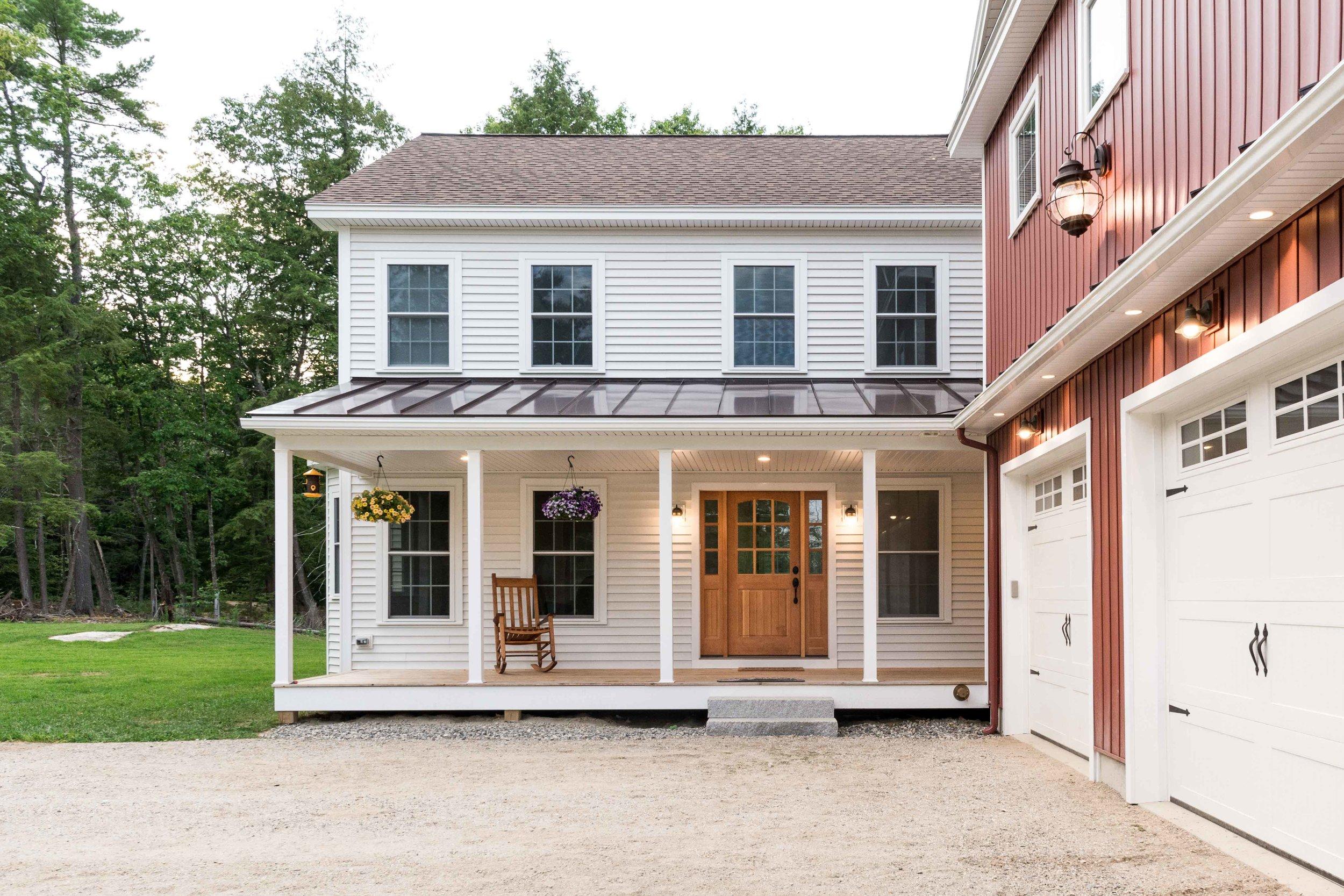 Granite Ridge Farmhouse, Windham, Maine, Front Door