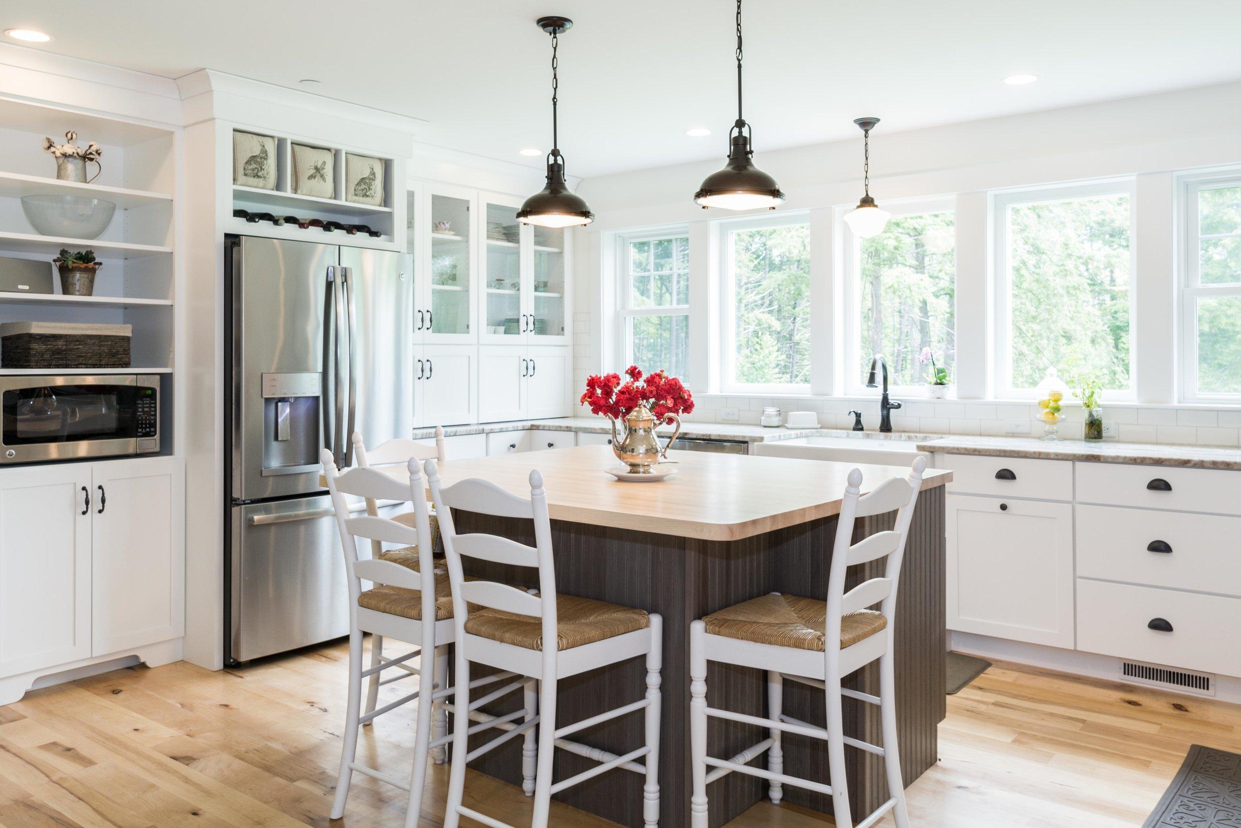 Granite Ridge Farmhouse, Windham, Maine, Kitchen