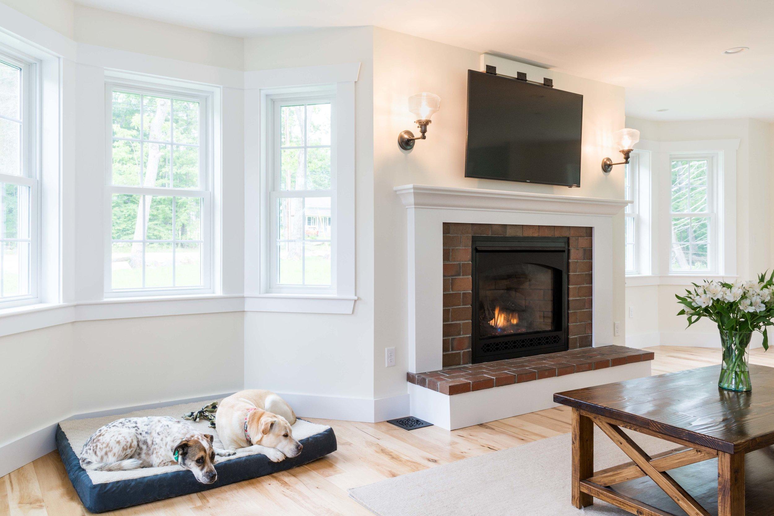 Granite Ridge Farmhouse, Windham, Maine, Living Room