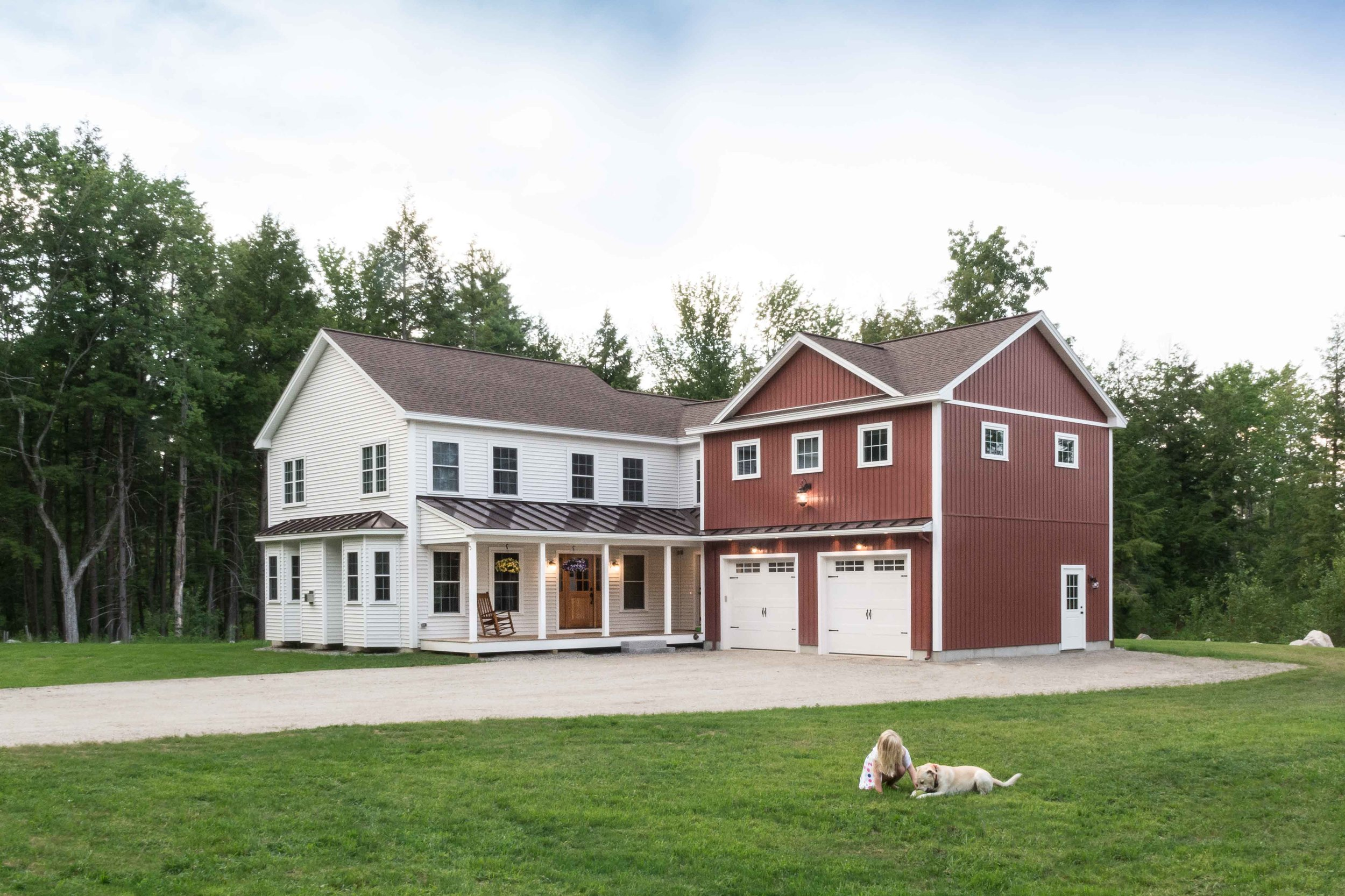 Farmhouse Exterior, Windham Maine. MGM Builders