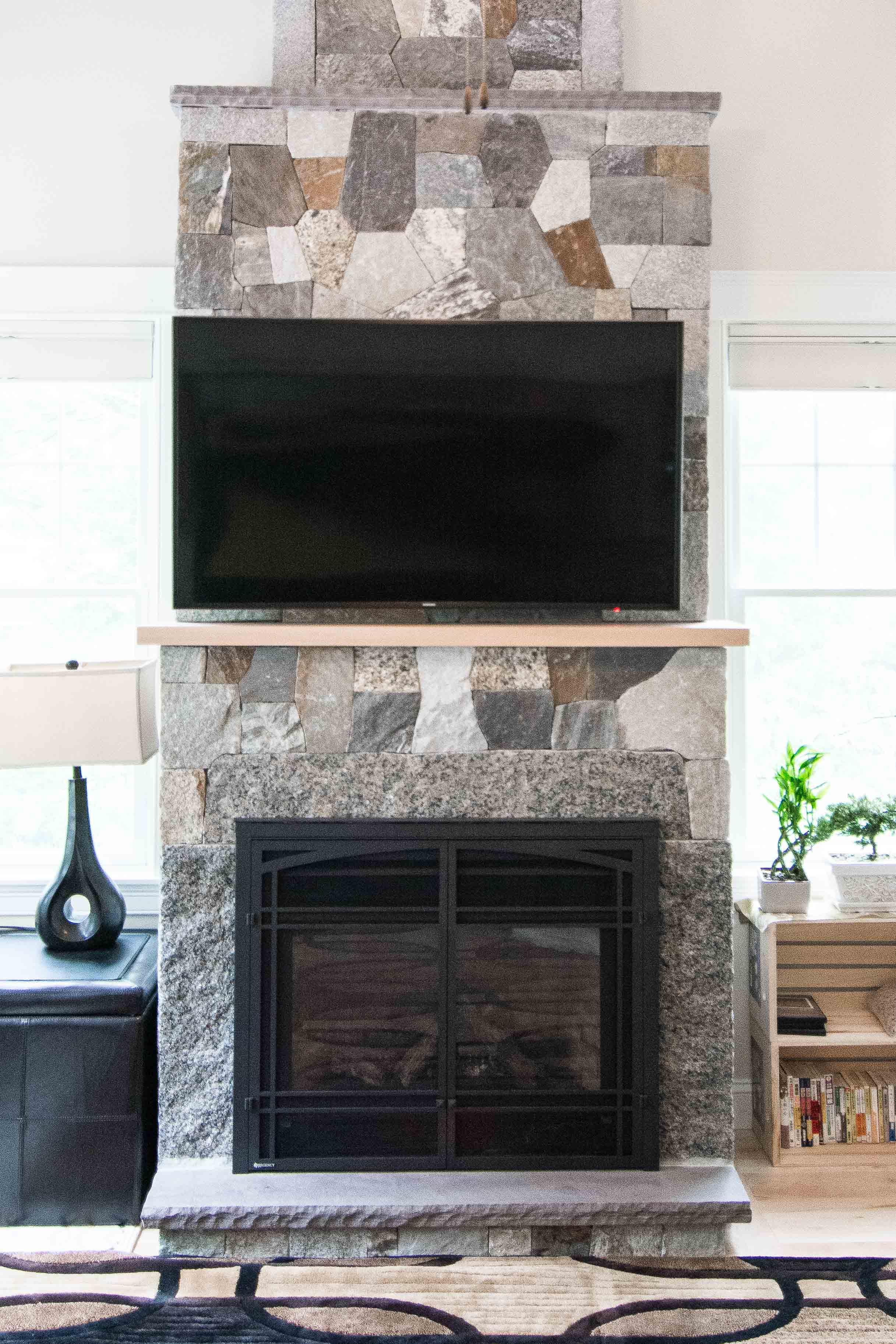 Stroudwater Cape, Portland, Maine, Stone Fireplace