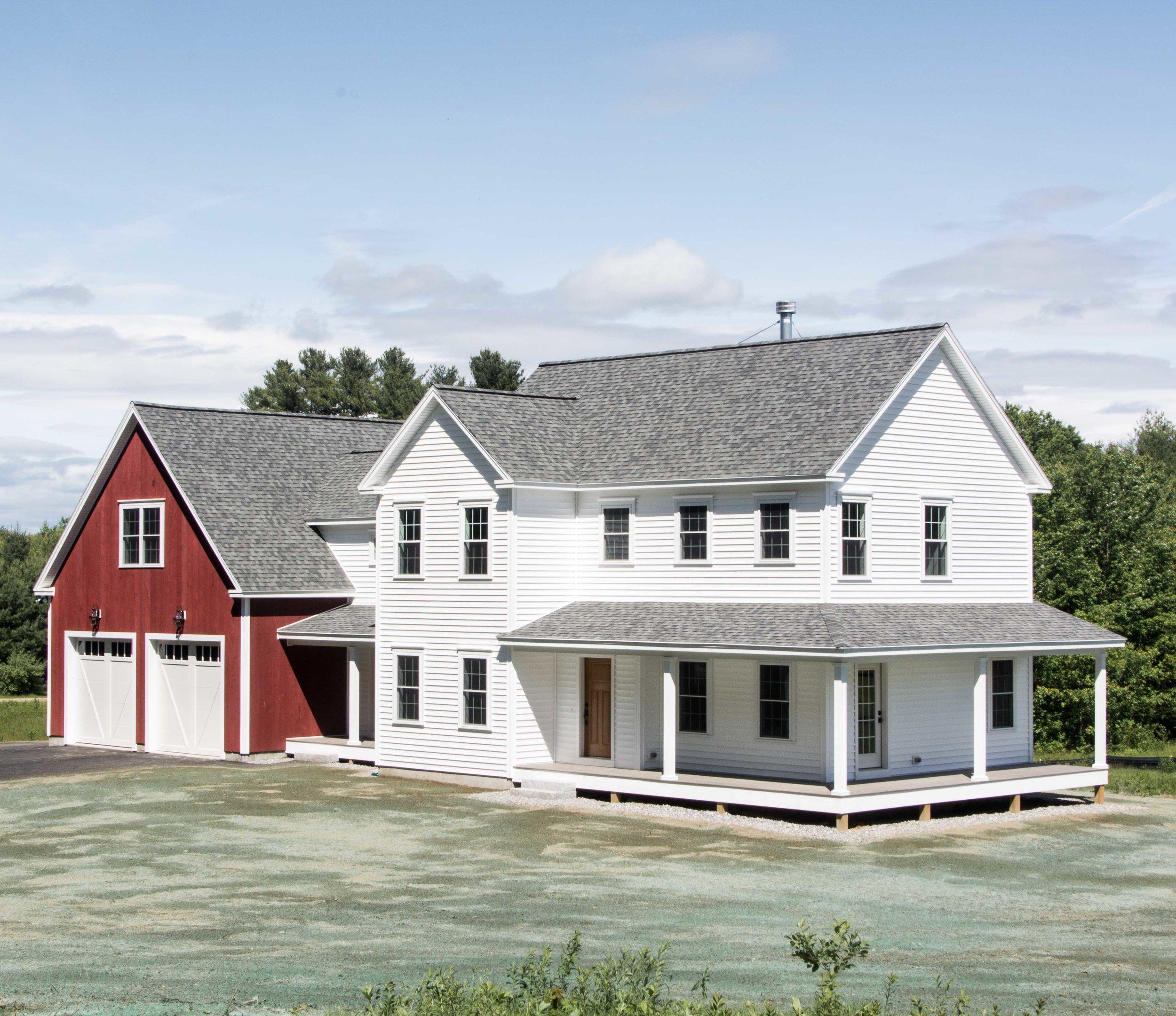 Pinewood Farmhouse, Gorham, Maine, Exterior