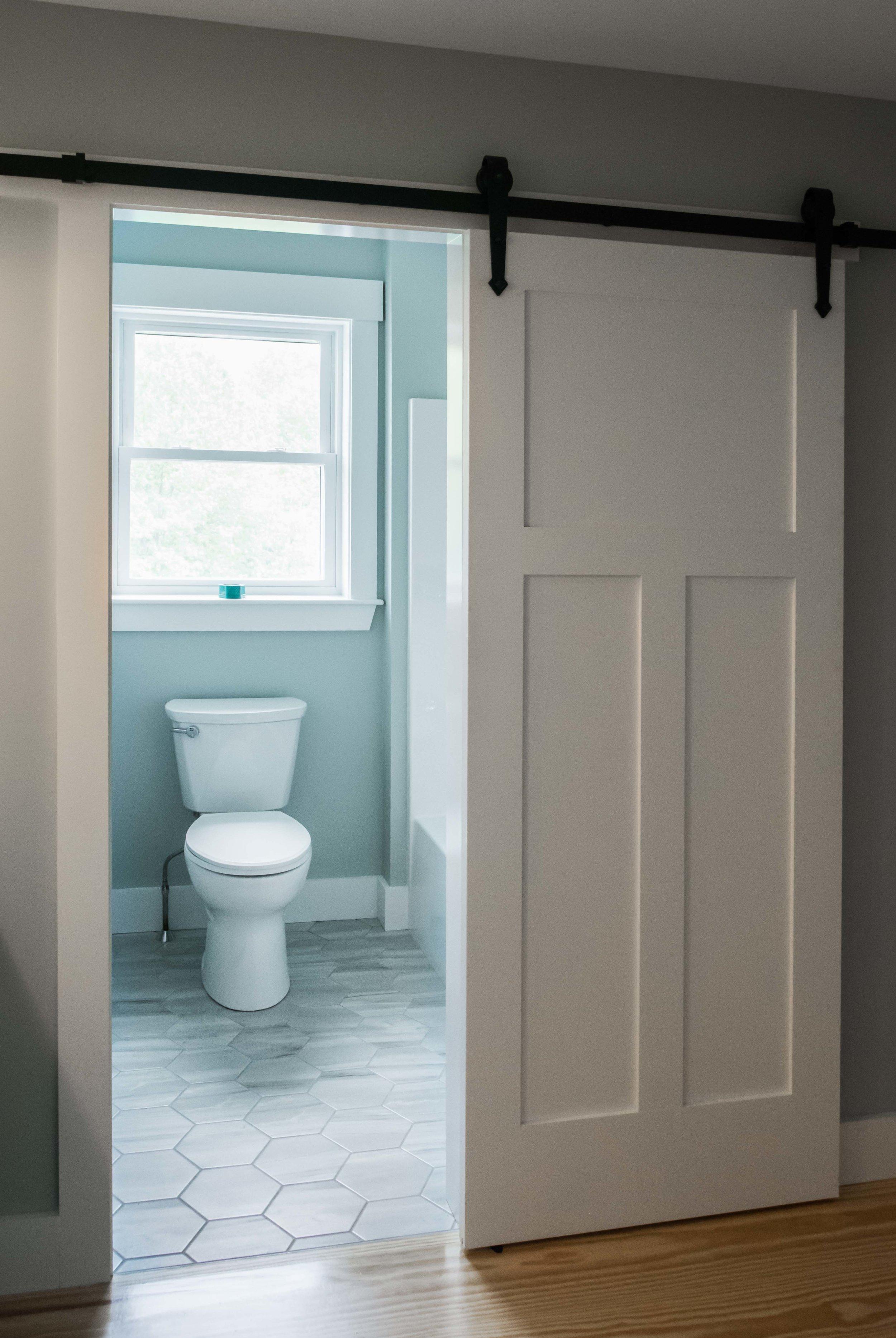 Pinewood Farmhouse, Gorham, Maine, Guest Bathroom