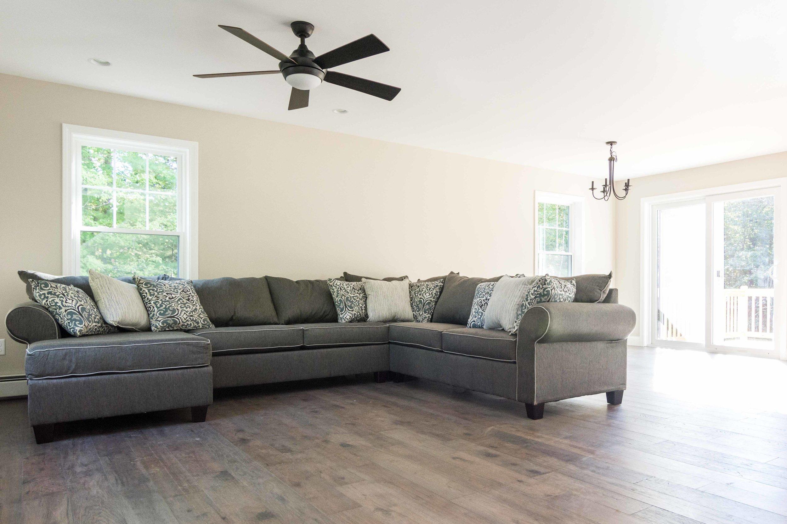 Cedar Hill Colonial, Cumberland, Maine, Living Room