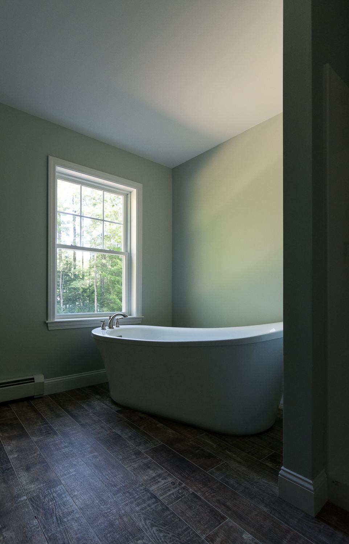 Cedar Hill Colonial, Cumberland, Maine, Master Bathroom