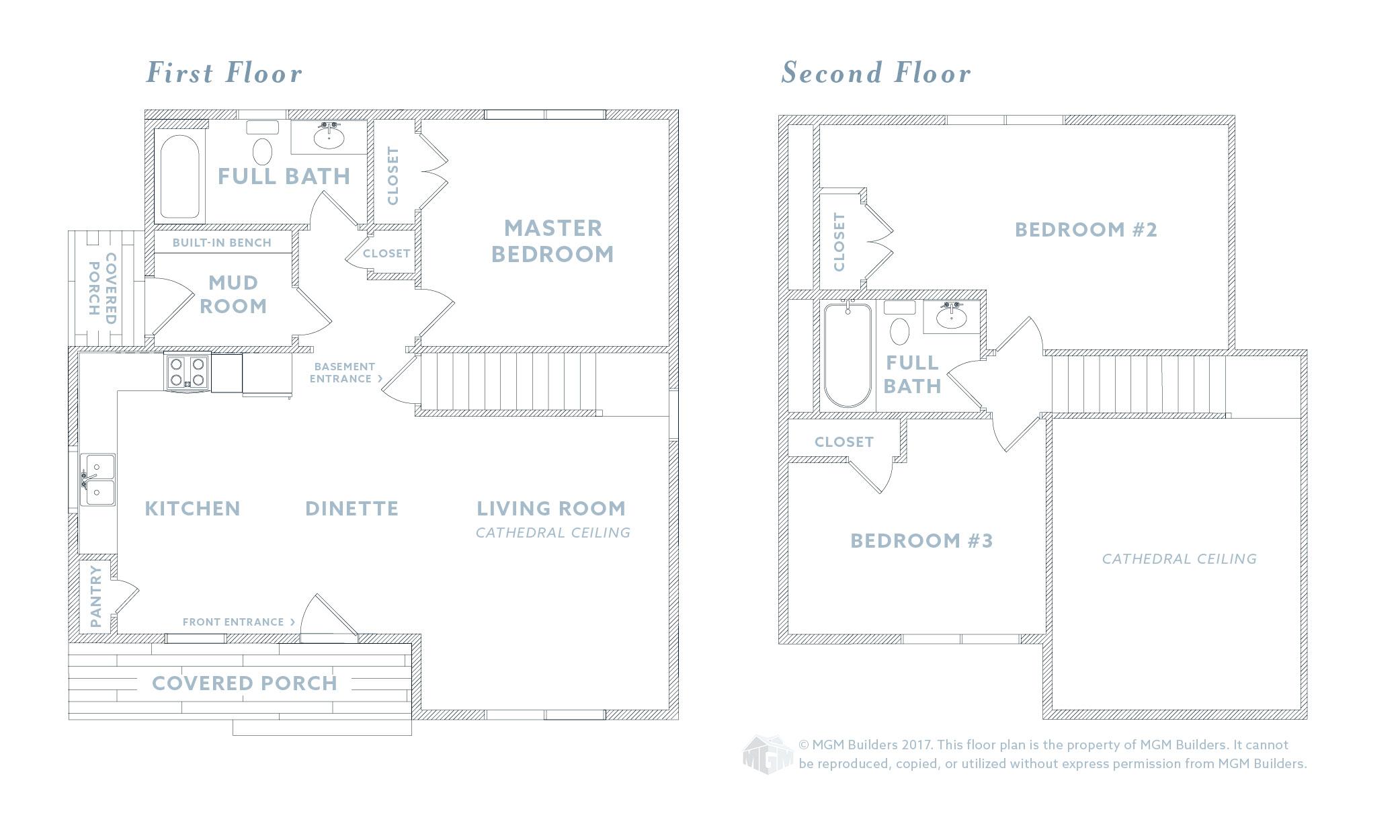 MGM Builders, Maine, Marley Floor Plan