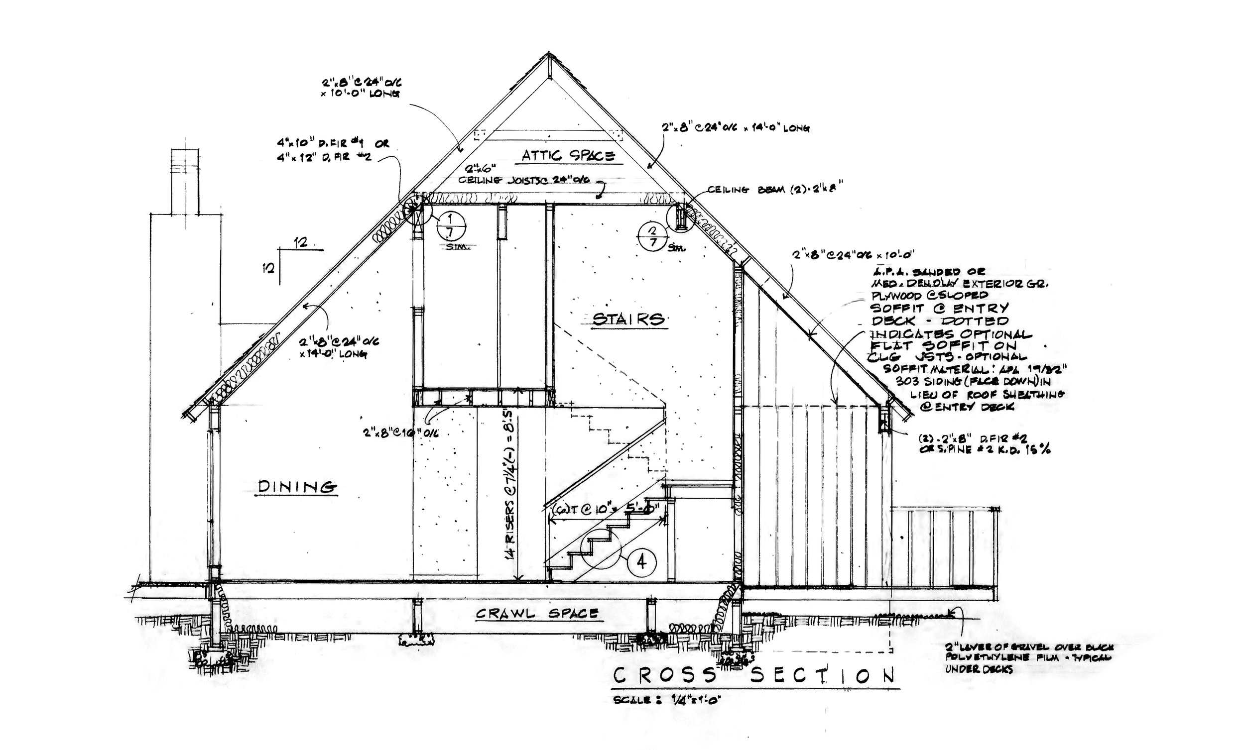 Blueprints to the first MGM Builders House built in 1987