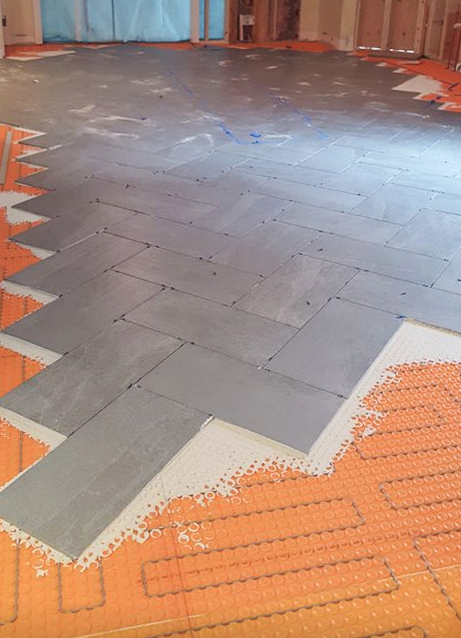 New Tile Flooring with Radiant Heat