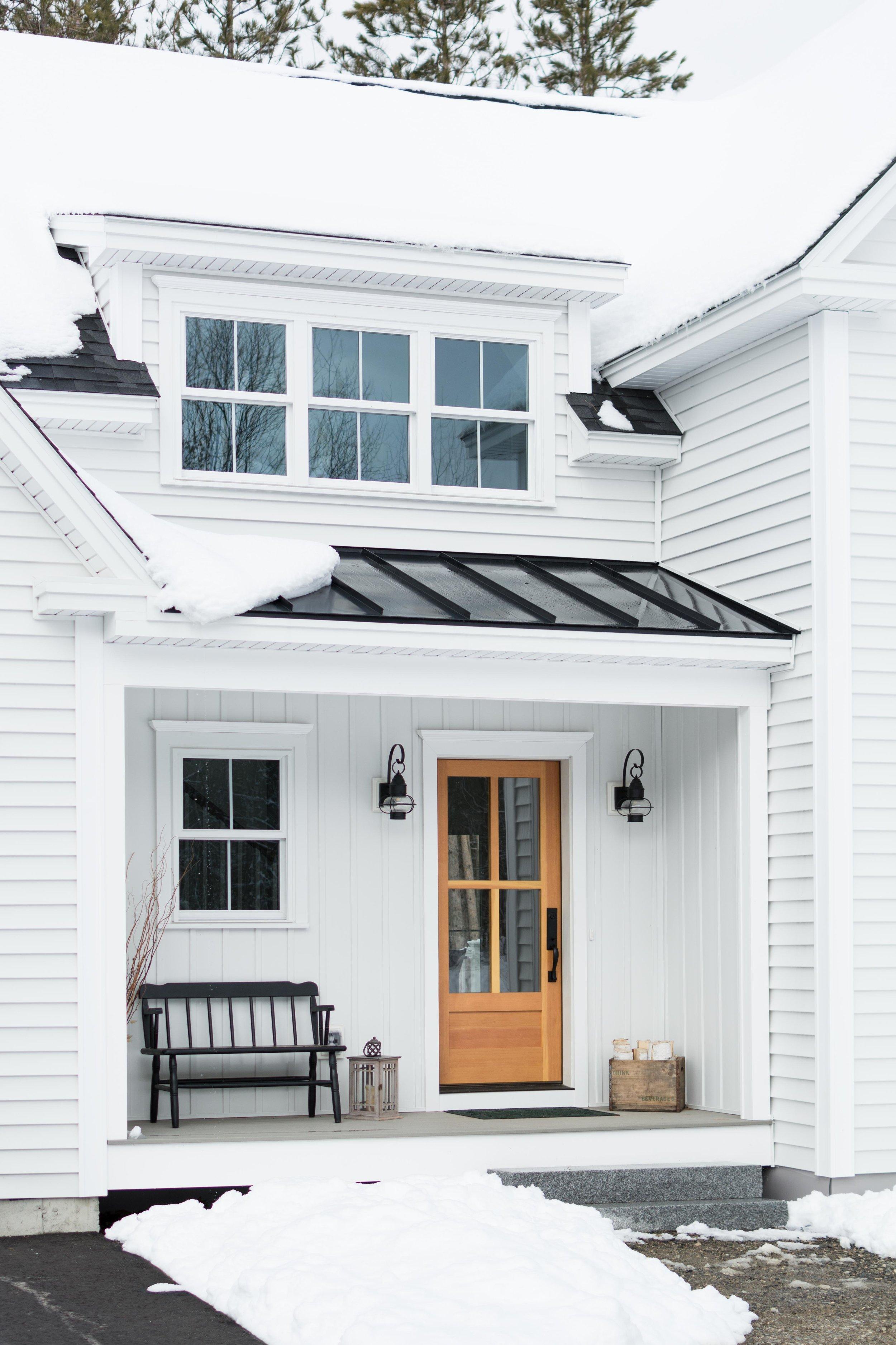 Pleasant River Farmhouse, Windham, Maine, Front Door