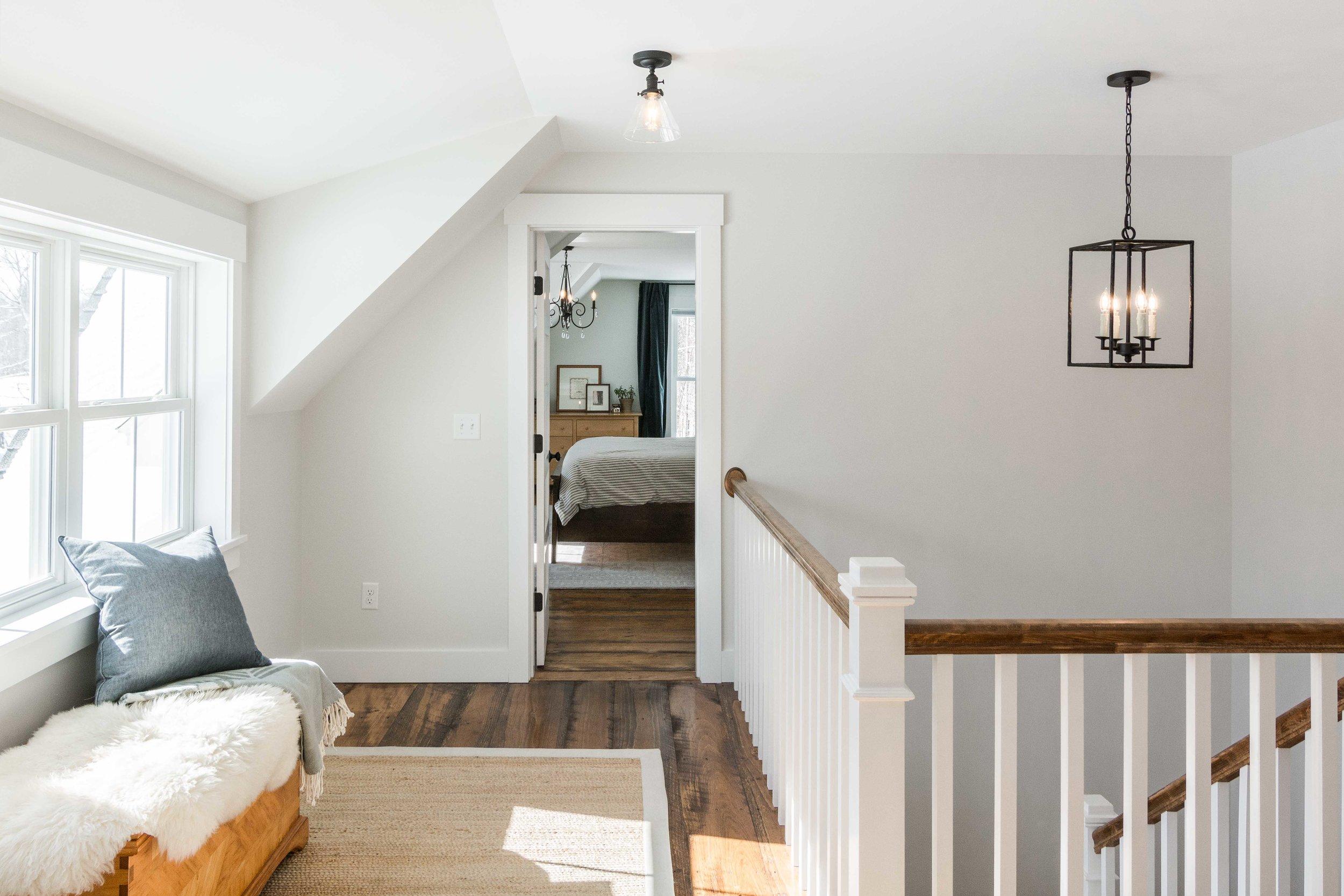 Pleasant River Farmhouse, Windham, Maine, Upstairs Hall