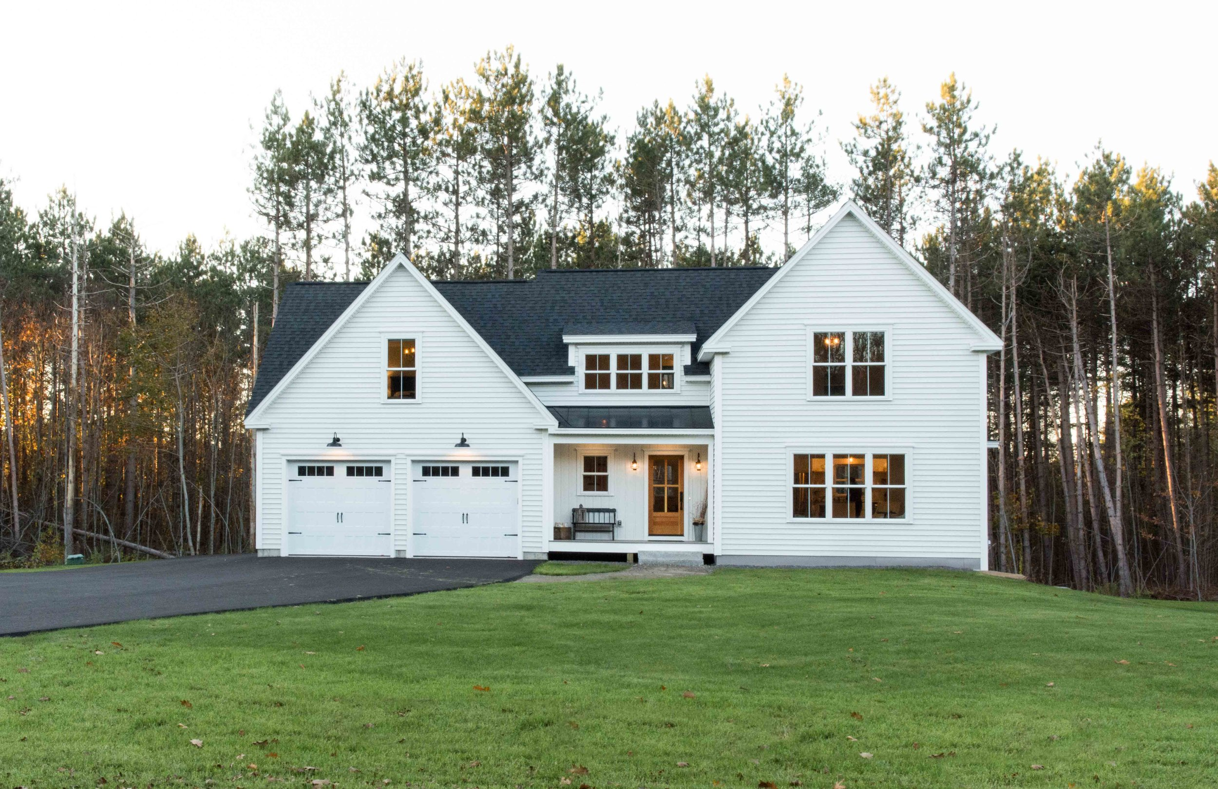 Pleasant River Farmhouse, Windham, Maine, Exterior in Summer