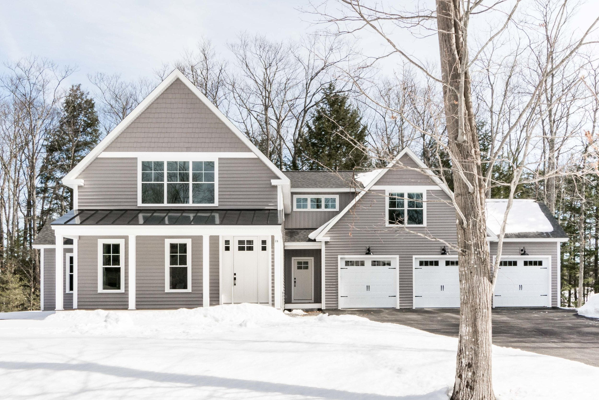 Birchwood Farmhouse, Gorham, Maine, Exterior