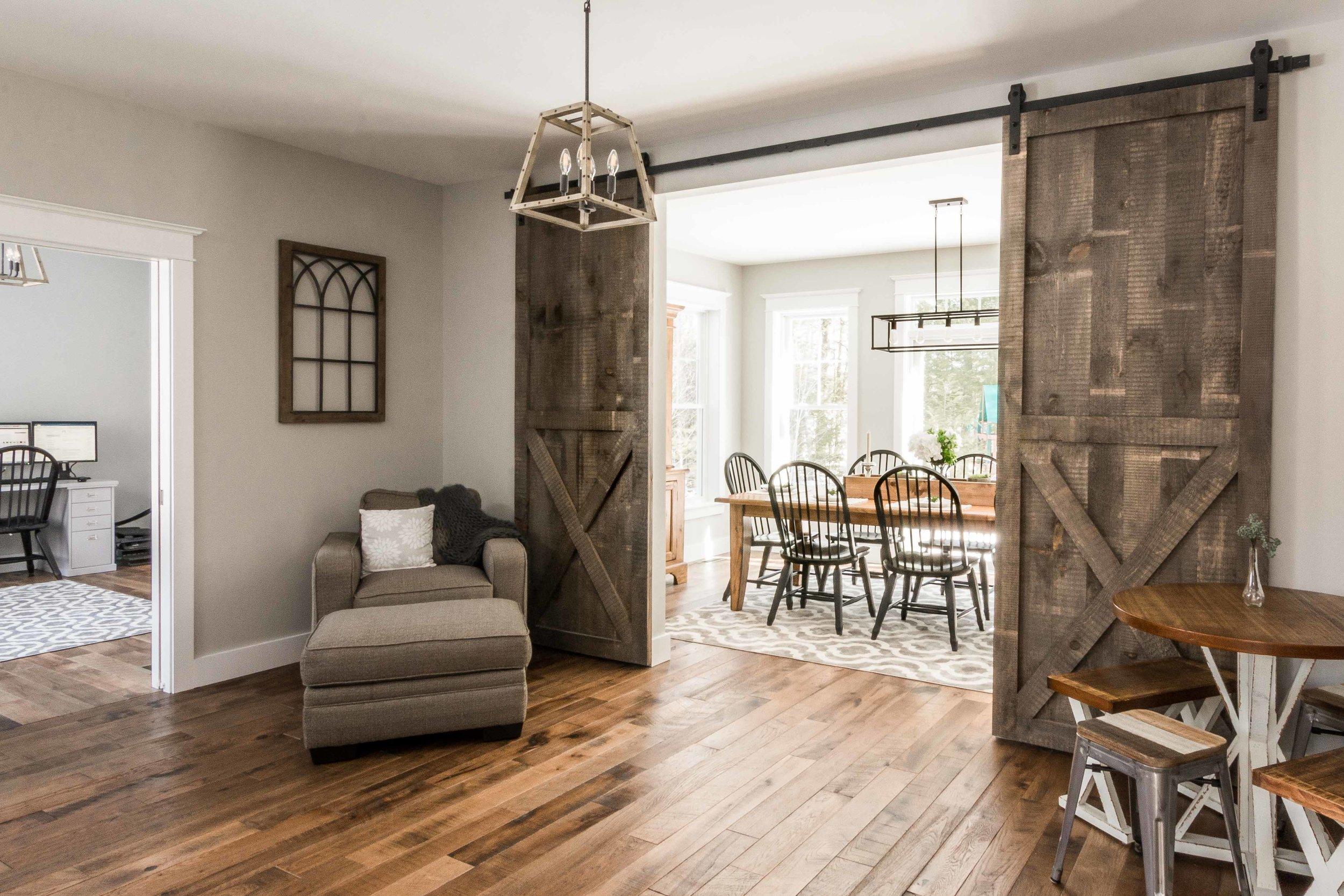 Birchwood Farmhouse, Gorham, Maine, Kitchen and Dining Area