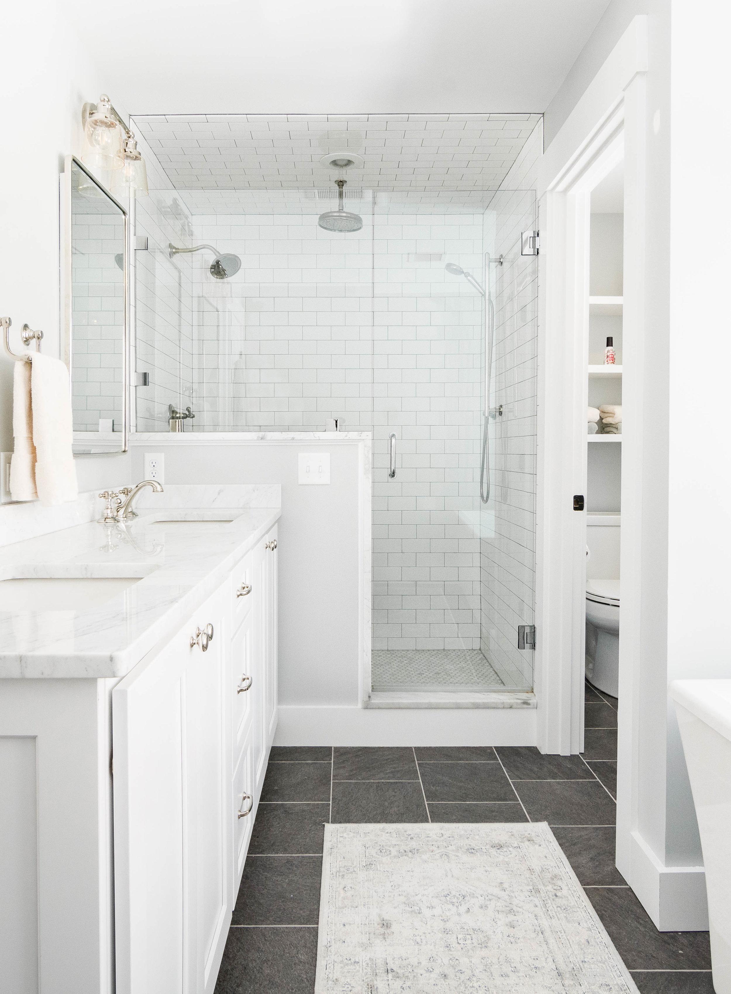 Pleasant River Farmhouse, Windham, Maine, Blog, Master Bathroom