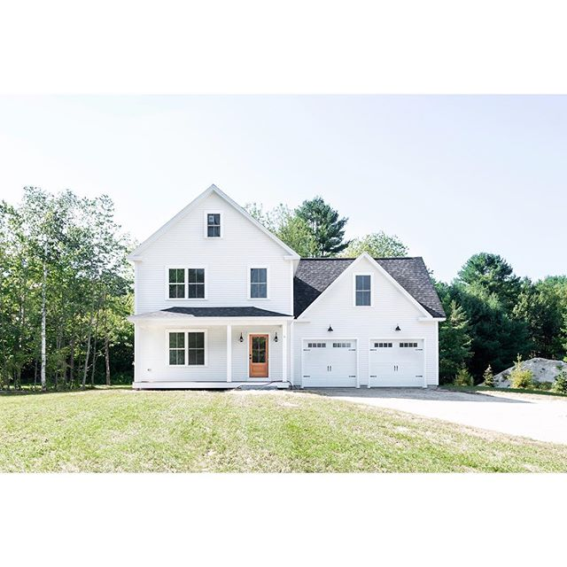 Our Green Acres Farmhouse is officially on the market in Windham 🏡 • We carefully designed this modern farmhouse to be bright and airy, and added high-end details such as a Douglas Fir front door, custom brick fireplace with built-ins and a luxurious bathroom within the master suite, to make this home not only functional but beautiful. • The 2,263 sq. ft. Home has three bedrooms, two and a half baths, and a laundry room on the second floor. • An open house will be held this Sunday the 16th from 11am till 1pm at 6 Hazel Drive in Windham, Maine. Listing in bio. . . . . . #mainehomes #modernfarmhouse #homesforsale #windham #maine #mgmbuilders #contractorsofinsta #buildersofig #mainefarmhouse #mainebuilders #mainebuilder #generalcontractor #homedesign