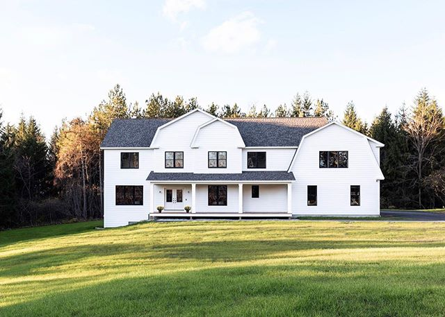 On this snow-covered morning, we're thinking back to when the grass was green and the leaves were just turning. . . . . . . #mgmbuilders #customhomebuilder #customhome #newhomeconstruction #mainebuilder #buildingdreams #buildwithpassion #mainehomedesign #mainehomes #homedesign #generalcontractor #contractorsofinsta #buildersofig #keepcraftalive #finehomebuilding #mainehomelife #cumberland #maine #whitehouseblackwindows #thisishome #modernhome
