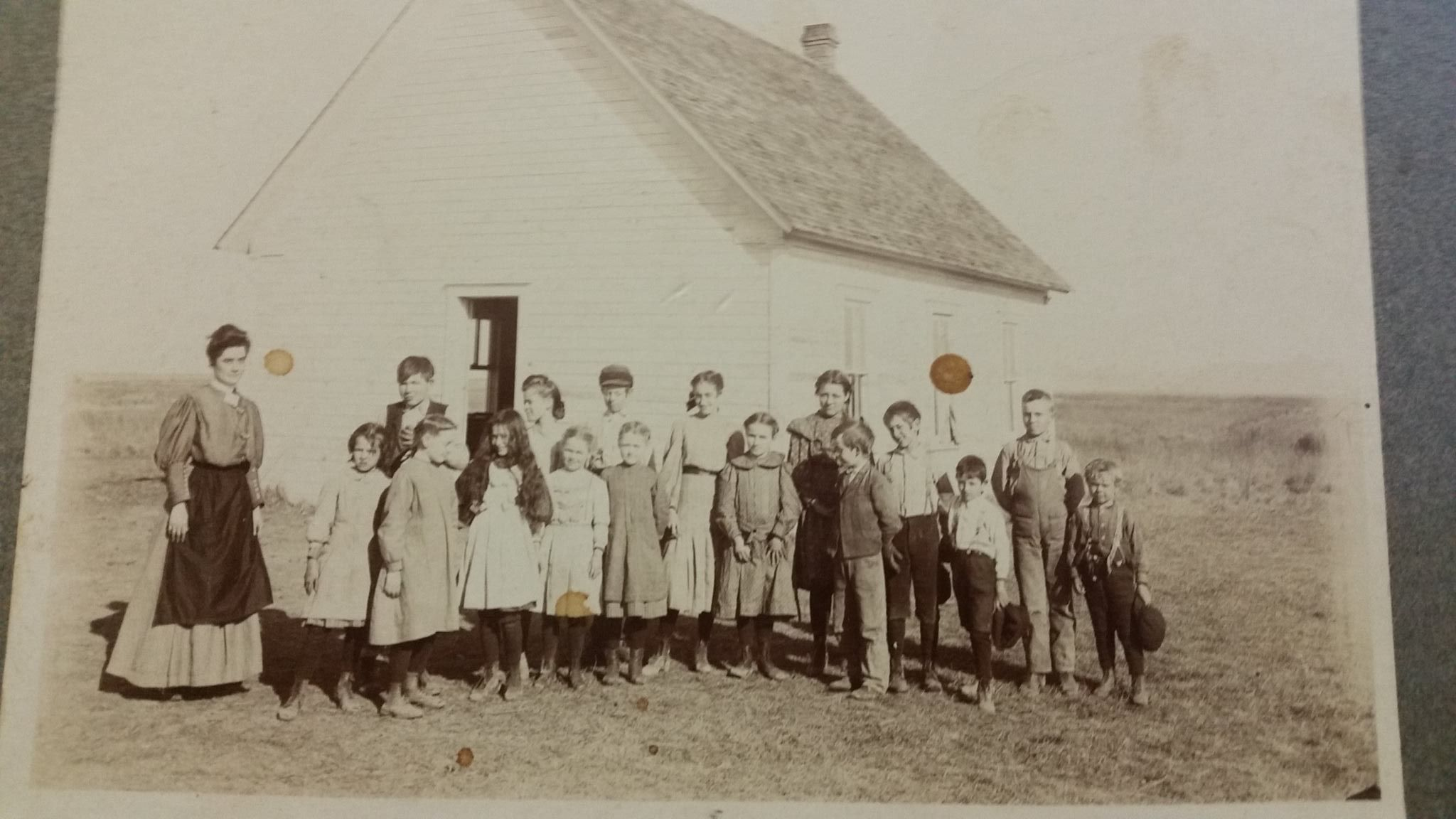This is my great-grandmother, with her students in 1906. She stayed during the dust bowl, too. Oklahoma teachers are made of pretty tough stuff, and we are finding out just HOW tough.