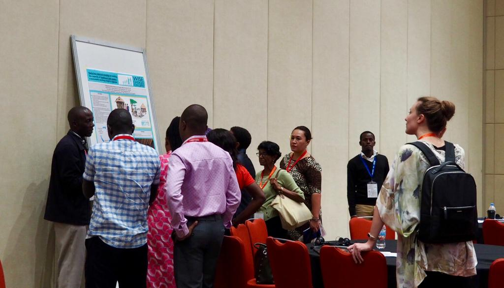 As a part of Sylvester's session, there was a 15 minute gallery walk of posters. Panelists further explained their abstracts on family planning based on their posters.
