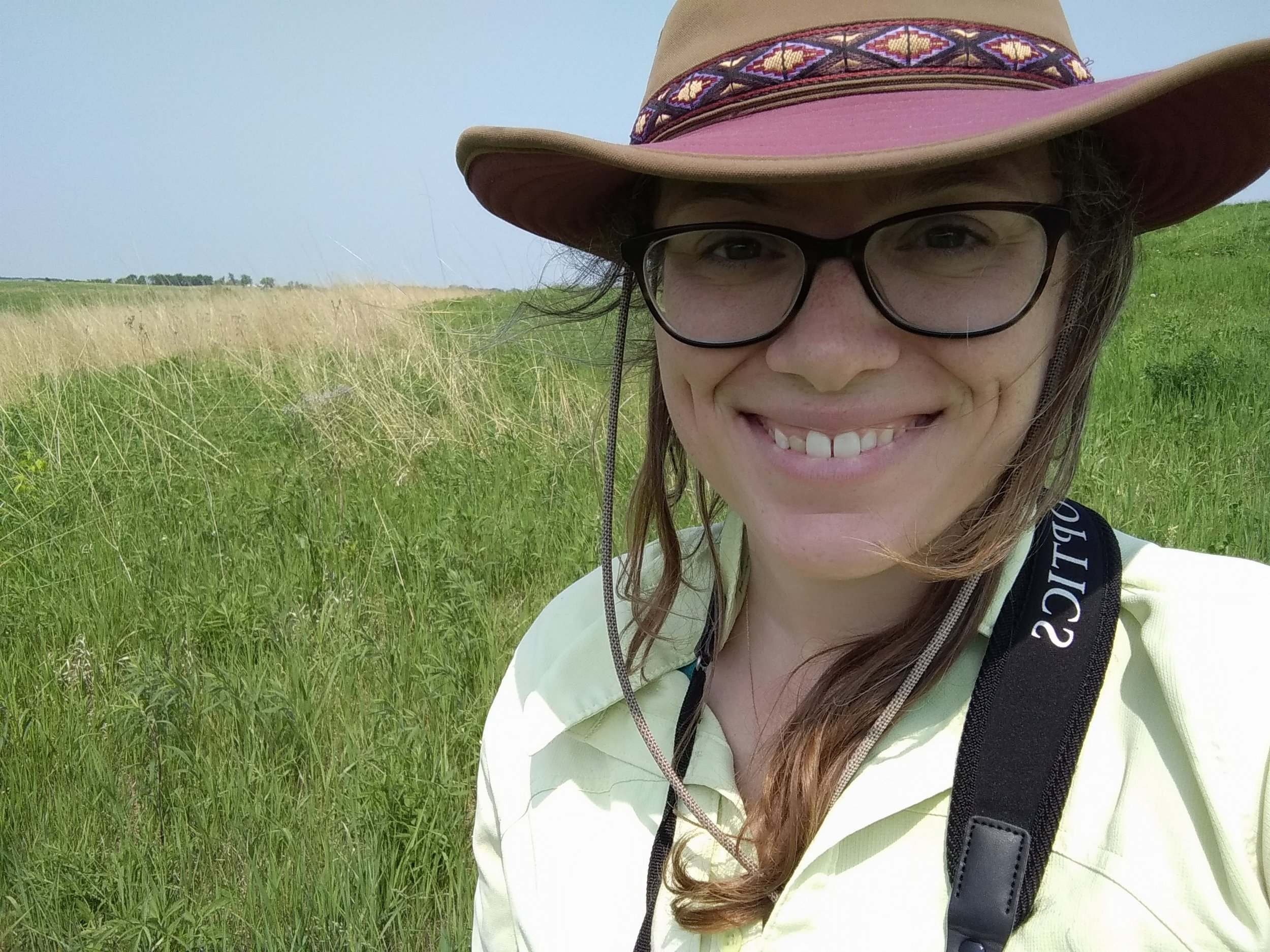 Here I am in my natural habitat: Wisconsin grassland.