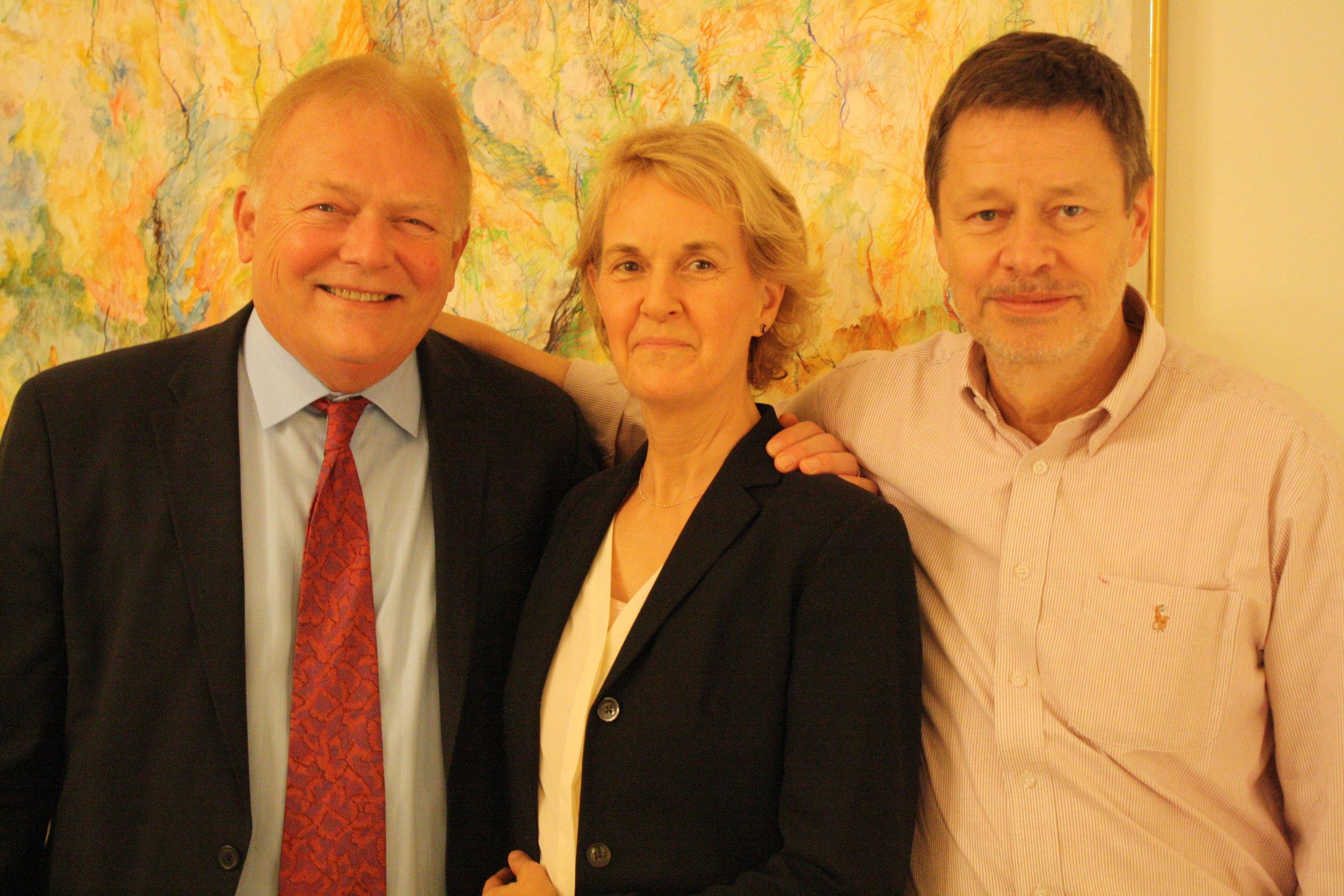 Ronald Bee, Carrie Mann, and German Consul Stefan Schlueter