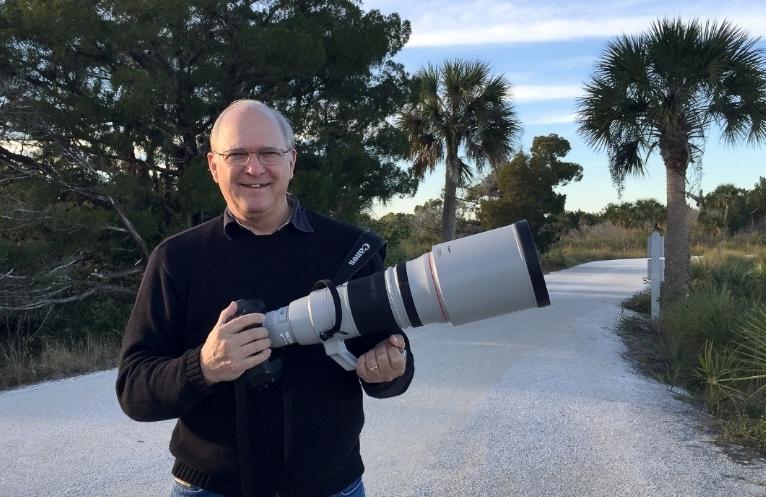 Chris Photographing Florida's Birdlife at Merritt Island's National Wildlife Refuge.