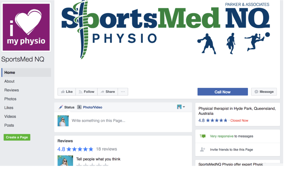 Sportsmed NQ's social media profile wasn't relevant to it's customer base. The previous look, feel and content needed work.