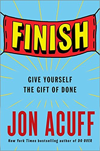 Review of Finish by Jon Acuff to help finish writing goals, on Green Goose Ghostwriting