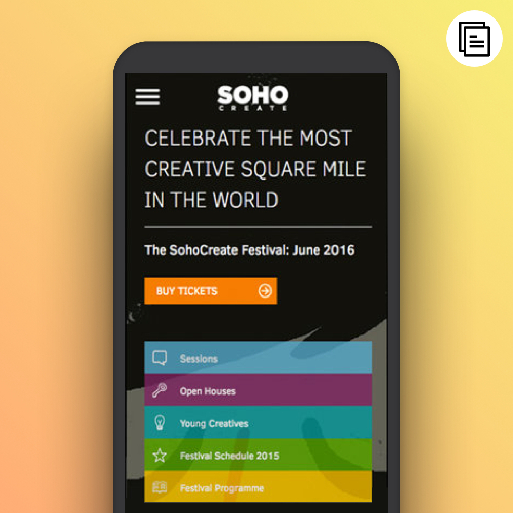Schedules and bookings for Soho's creative festival