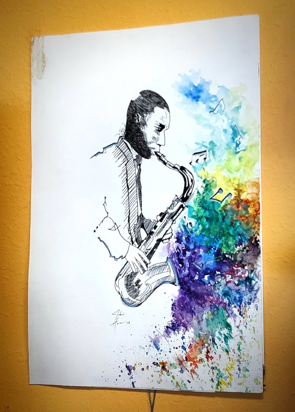 """""""The Color of Music"""" by John Hunter, available in store at Andee's."""
