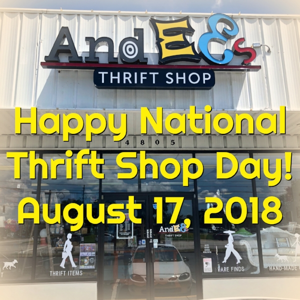 Andee's celebrates National Thrift Shop Day 2018.