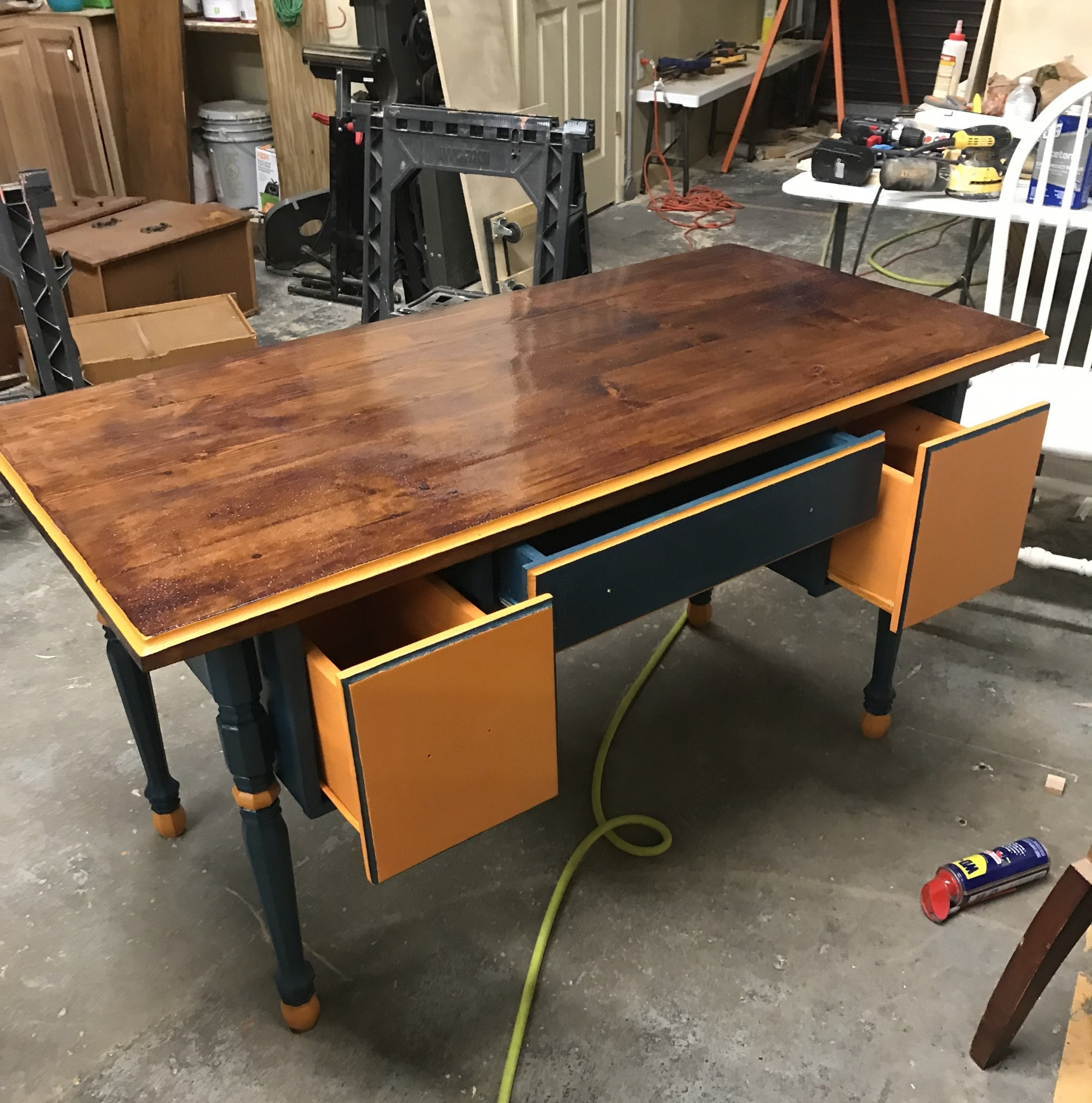 Blue and Orange Desk
