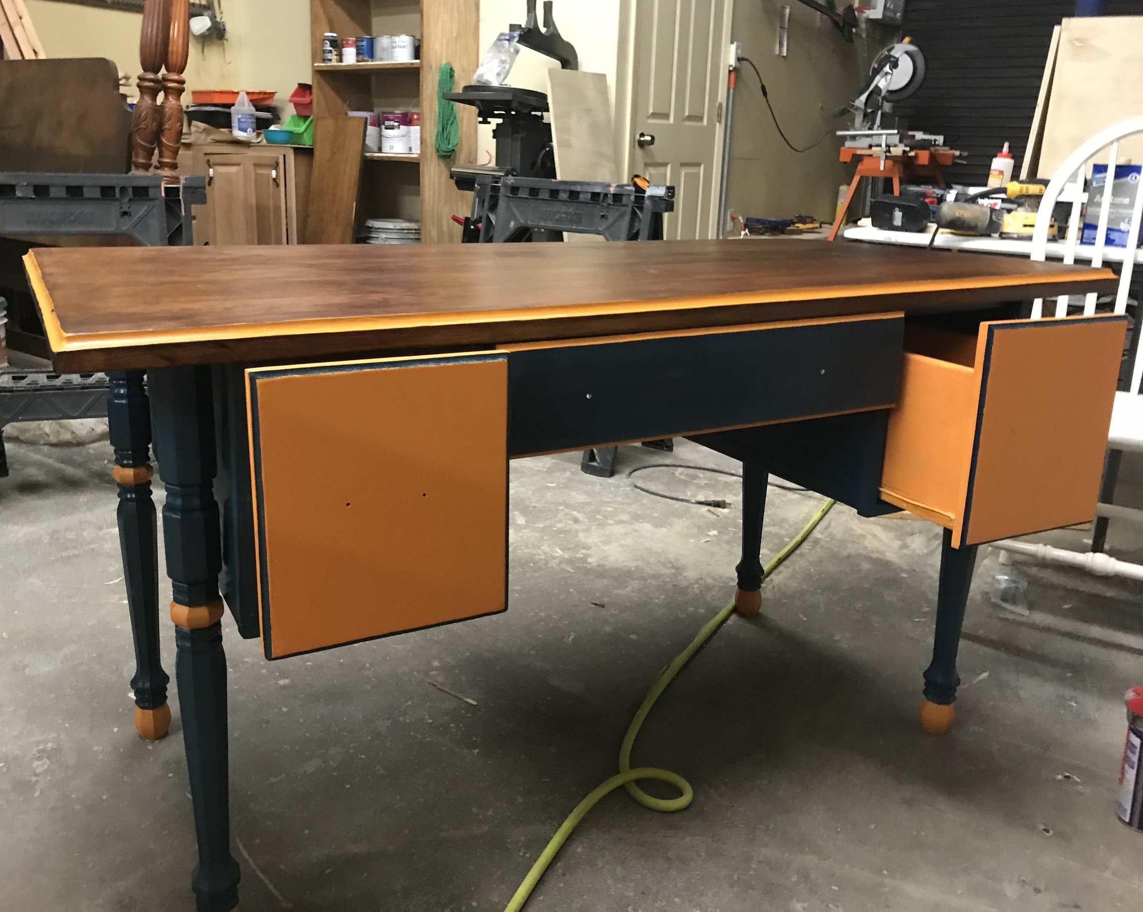 Orange and Blue Desk