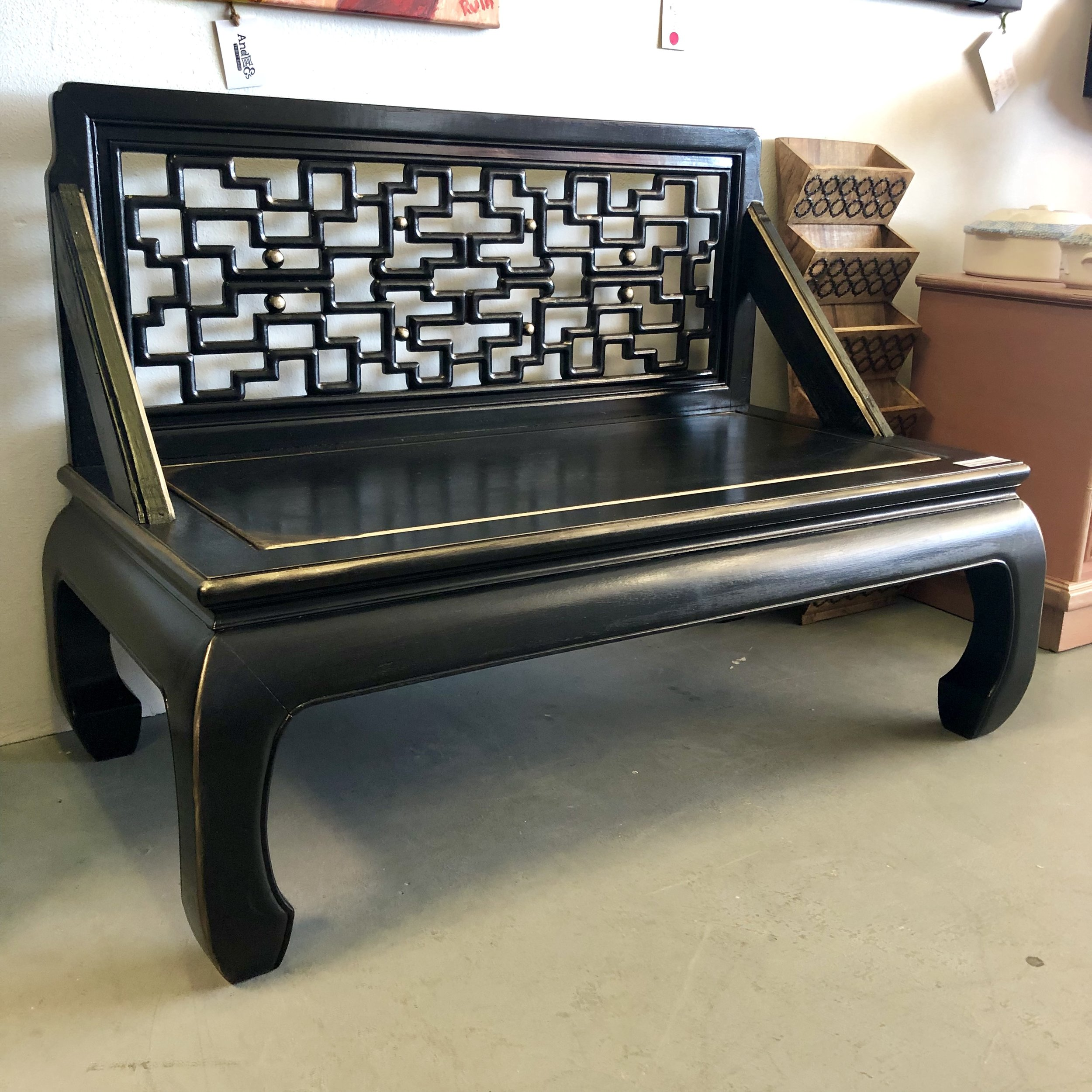 Gilded Onyx Bench